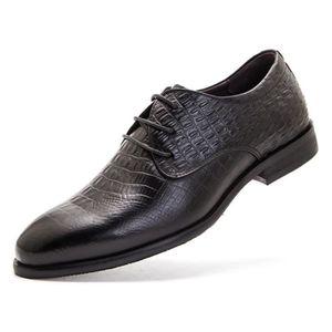 DERBY Chaussures de ville pointu homme business vernis e