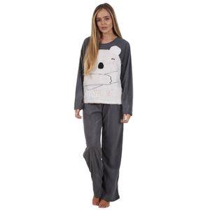 75a94caad2085 PYJAMA Ensemble de pyjama pour femme manches longues en p