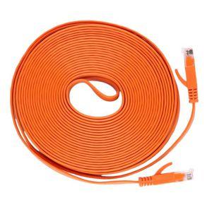 PACK RÉSEAU 10M Câble platréseau Ethernet Patch plomb Rj45 Pou