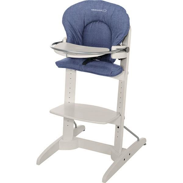 Bebe Confort Chaise Haute Woodline Divine Denim Bleu Achat Vente