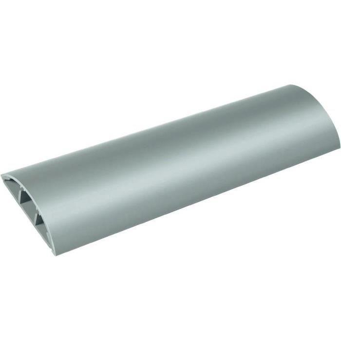 GOULOTTE - CACHE FIL Protège-câbles coloris gris longueur 100 cm pou…