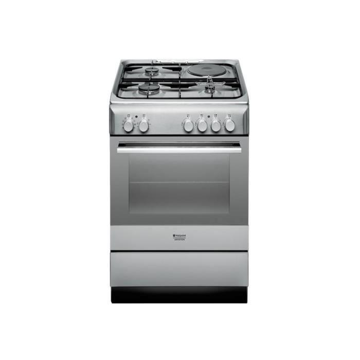 nouveau produit e671a f48c7 HOTPOINT ARISTON Cuisinière Mixte Gaz-Electrique Four ...