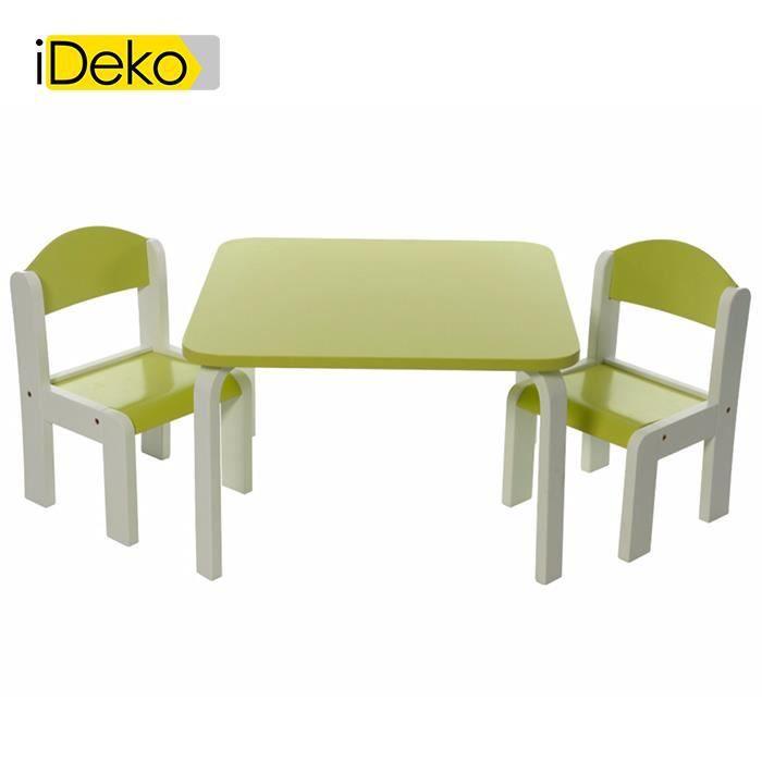 fauteuil jardin idekoensemble table et 2 chaises pour enfant - Table Et Chaise De Jardin Pour Enfant
