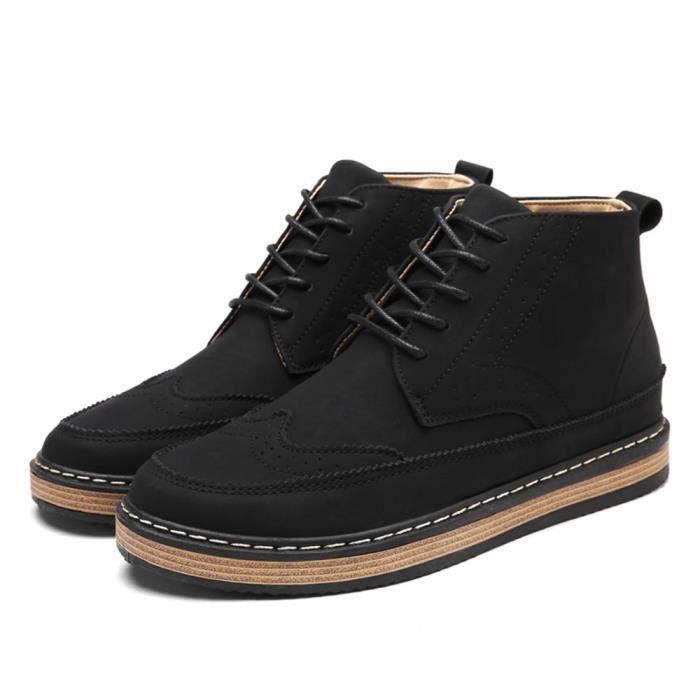 homme mi-bottes 2017 nouvelle marque de luxe chaussure Antidérapant Classique chaussure Plus De Couleur