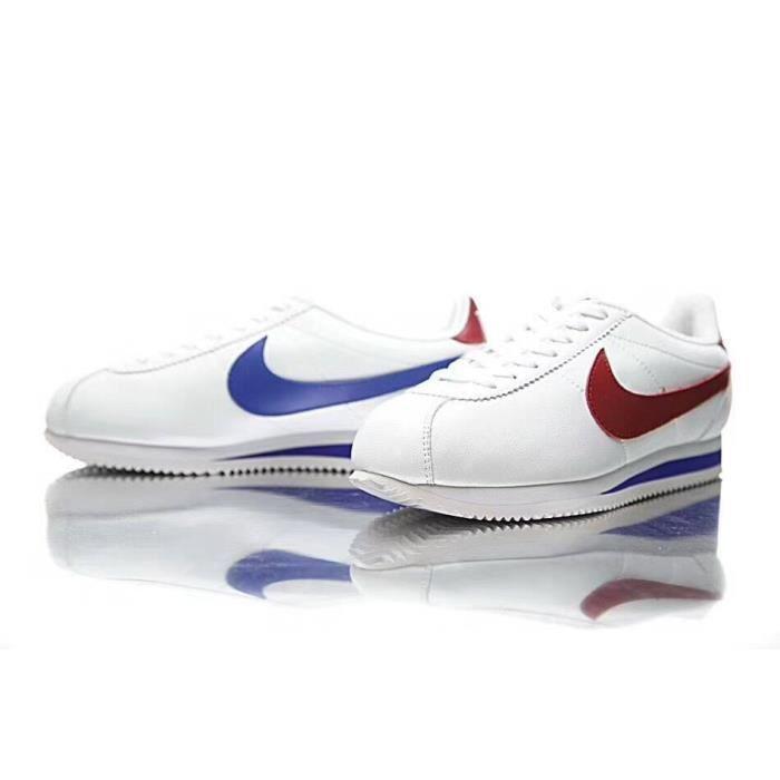 huge selection of a4b72 7de19 Nike Classic Cortez Leather Chaussures De Sport Hommes et Femmes Blanc