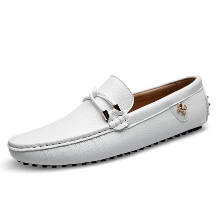 Mocassins Cuir Souple Homme Basses Chaussures de Ville cjh1x9