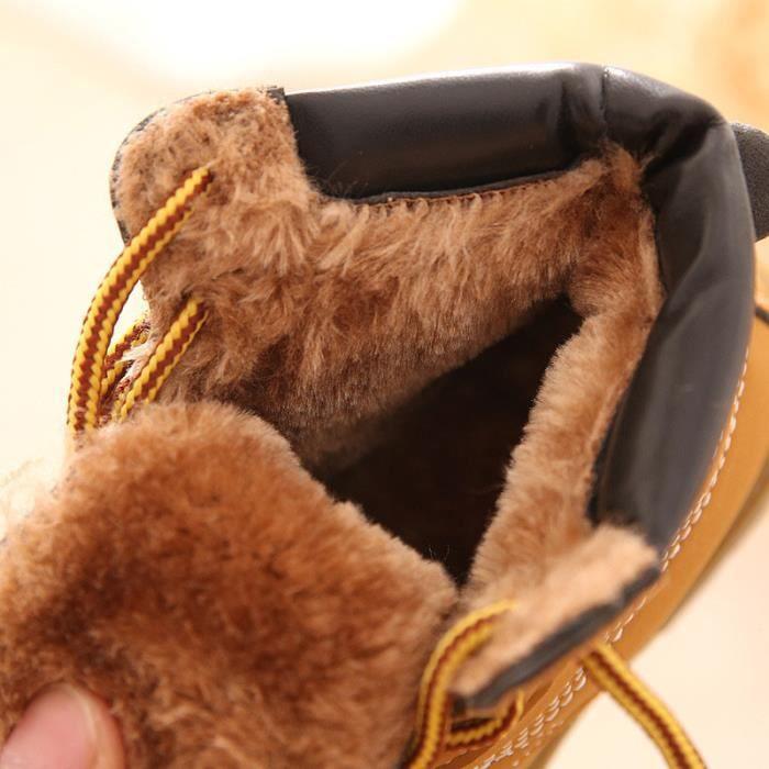 Hiver Enfant Classique Cuir Bottes de neige Haut qualité Peluche Enfant Bébé Tout-petits Chaussures Enfants Warm Martin Boots