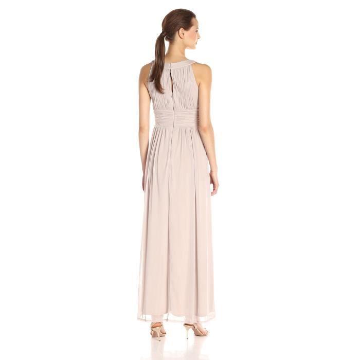 Sangria embelli ligne de cou de trou de serrure de la femme avec une robe de soirée de taille froncée ZGFOS