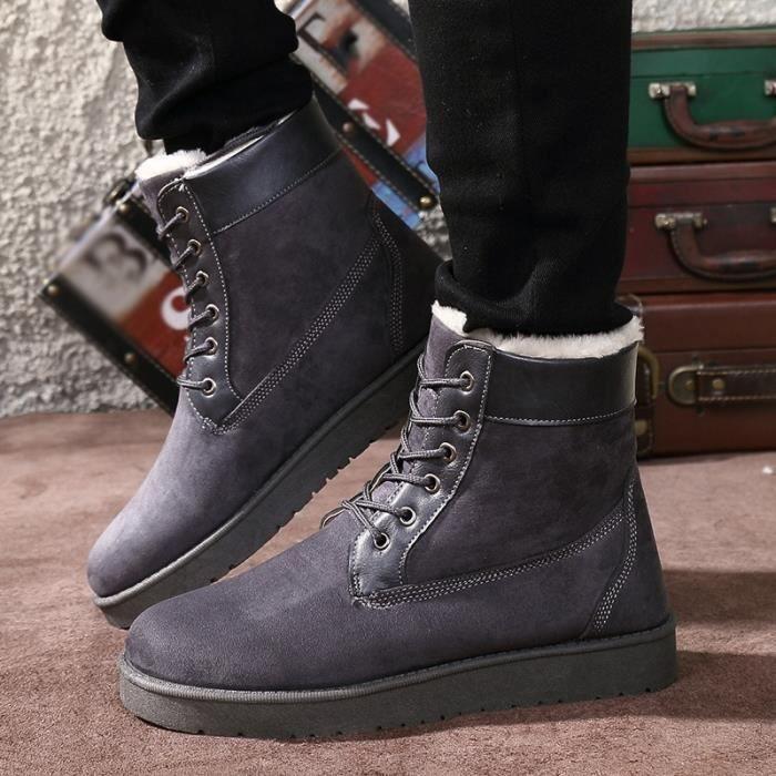 Bottes neige pour style britannique de Mode hommes ExvHwU4Uq