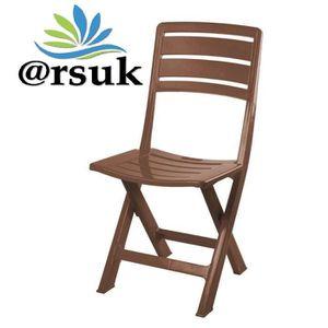 Chaise de jardin pliante en plastique ARSUK pour chaise de balcon ...