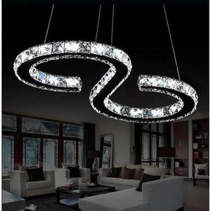 LUSTRE ET SUSPENSION 24W LED Lustre Moderne en Cristal LED Cristal Lust