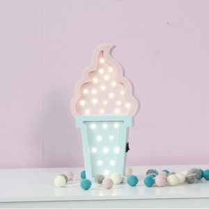 Rose+bleu Lampe De crème Glacée 3d veilleuse Chambre de Bébé de ...