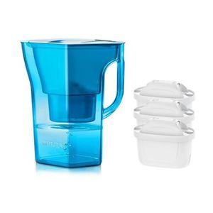 CARAFE FILTRANTE Pack BRITA Carafe filtrante NAVELIA Bleu + 3 Carto