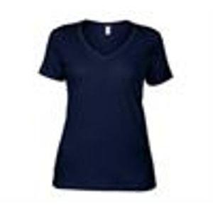 T-SHIRT Anvil t-shirt à col en V pour femme-AV123-Bleu mar