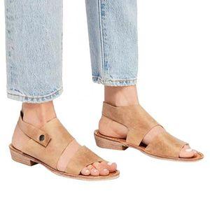 ESCARPIN Chaussures à talon cheville Ceinture Retro ouvert