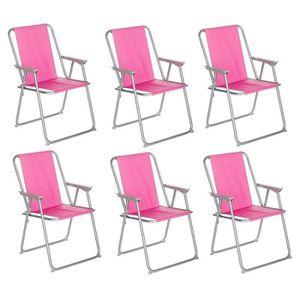 FAUTEUIL JARDIN  Lot De 6 Chaises De Camping Pliantes