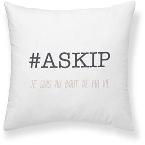 COUSSIN TODAY Coussin Girl Power Askip - 40 x 40 cm