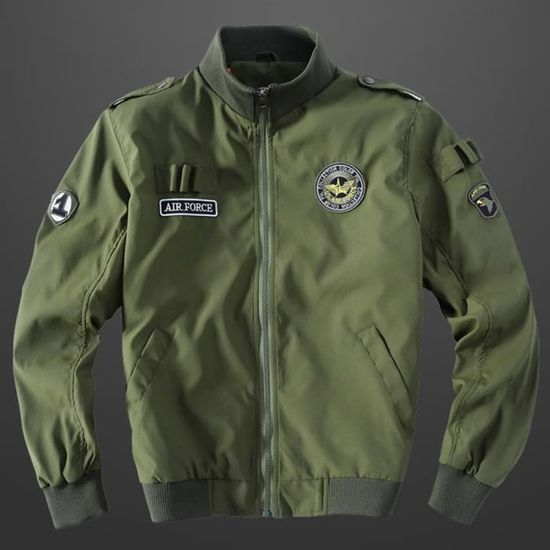 Vêtements Glissière Armée Fermeture À Pour Verte Montant Casual Hiver Militaire Col Hommes Veste Manteau Automne HOAXqvw