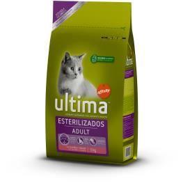 ULTIMA Croquettes stérilisées au saumon - Pour chat - 7,5 kg