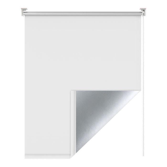 Store enrouleur Blanc 85 x 170 cm store occultant thermique isolant ...