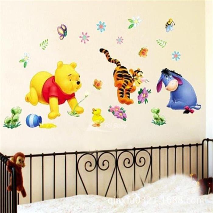 Winnie l\'ourson Arbre Dessins Animés Animal Mur Autocollants Pour ...
