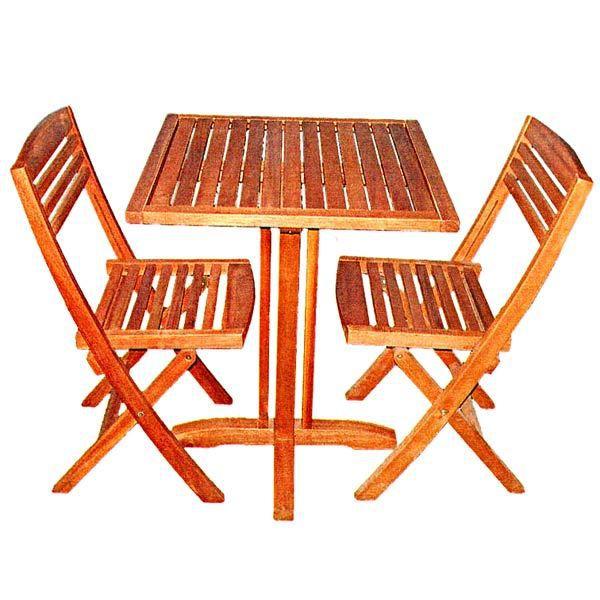 Table De Jardin En Bois Exotique Fsc 2 Places B Achat Vente