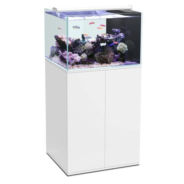 Aqua meuble ultra clear sw 100 blanc achat vente for Achat aquarium eau de mer