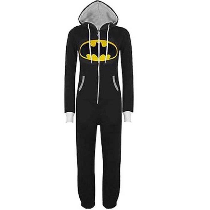 À Batman Capuche Combinaison Superman Zippée Pyjamas Uraqt Unisexe reBxoCdW