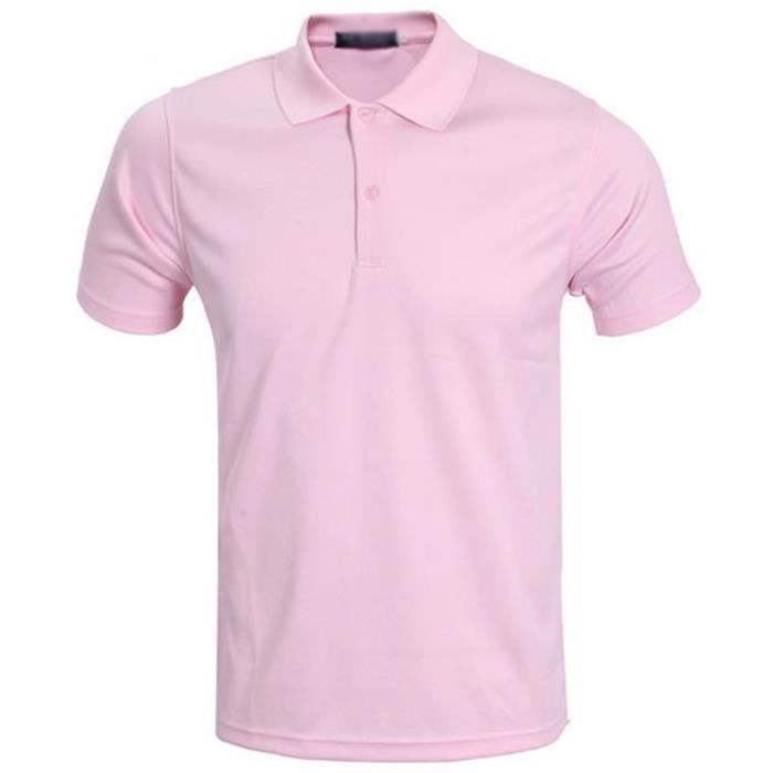 Yingchanyu®polo Courtes Simple Rose Clair Homme T Shirt Manches Pour zSMVpqUG