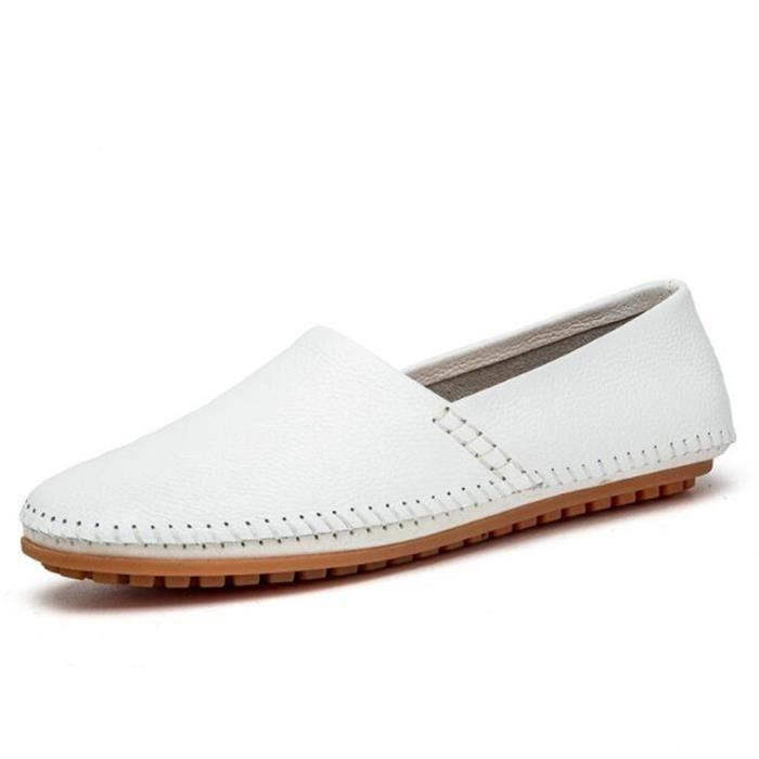 bleu 38 Taille Mode blanc Cuir De noir jaune Grande Homme En Loafer Ete Luxe Marque Hommes Moccasin Nouvelle Chaussures Marron 47 qRS6Fwg