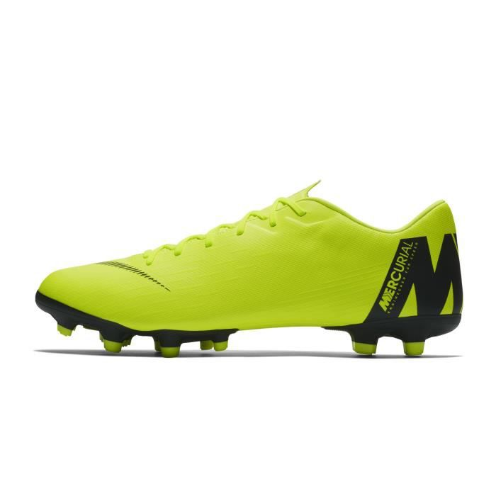 4455be26025 Chaussures football Nike Mercurial Vapor XII Academy MG Jaune - Prix ...