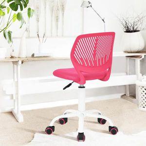 Chaise bureau enfant rose Achat Vente Chaise bureau enfant