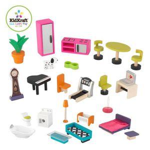 Maison barbie en bois achat vente jeux et jouets pas chers for Casa moderna kidkraft