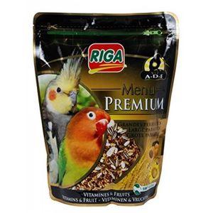 RIGA Menu Premium Grandes Perruches Vitamines et Fruits - Doypack - 800 g