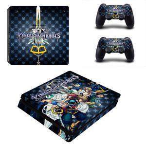 STICKER - SKIN CONSOLE Anime Kingdom Hearts 3 Sword PS4 Slim Consoles Con