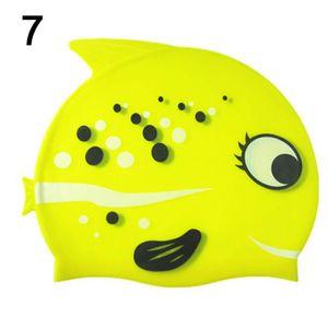 Enfants nagent chapeau silicone drôle poisson enfants natation bonnet de  bain pour les garçons filles 5ee9841d2d4