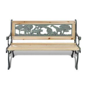 Petit Banc Exterieur bancs d'exterieur banc de jardin pour enfant en fonte design animaux