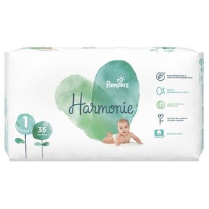 COUCHE Pampers Couches Harmonie Taille 1 (2-5Kg) x35 (lot