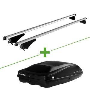 BARRES DE TOIT Pack barres et coffre de toit MBO Eole XL + Wabb M