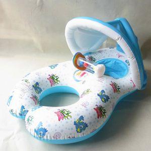 BOUÉE - BRASSARD Bague de natation gonflable pour mère et bébé Bagu