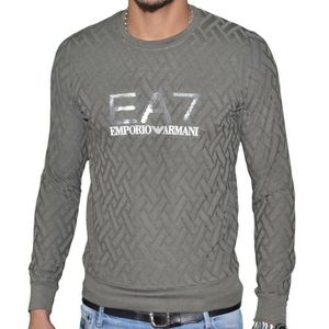 PULL Ea7 - Pull Fin Col Rond - Homme - Train Core - Kak