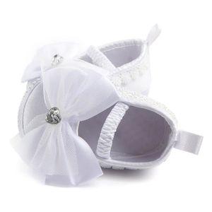 BOTTE Nouveau-né bébé Prewalker Soft Bottom anti-dérapant Chaussures Fille Big Flower Chaussures@BlancHM DcbIhb3tY7