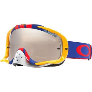8b32bd86ae7002 LUNETTES - MASQUE OAKLEY - Masque Cross Crowbar Pinned Race Red Blue ...