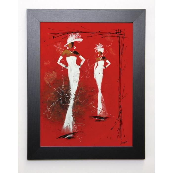 JOHANNA Image encadrée Défilé Haute couture II 37x47 cm Rouge
