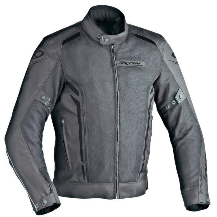 IXON Blouson Moto Homme Tissu COOLER Gris - Noir
