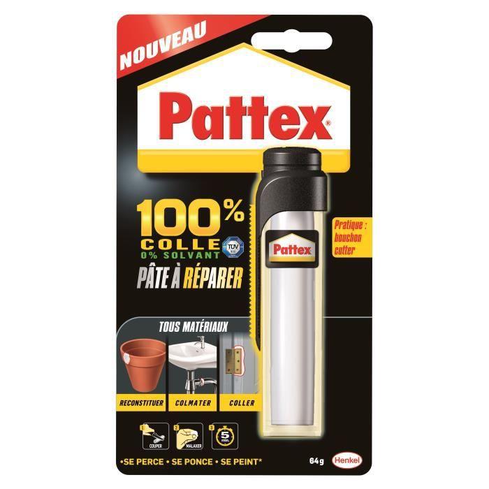 PATTEX Pâte à réparer Epoxy 100% colle - 64 g
