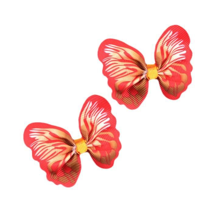 Mignon Animaux Chiot Chien Cheveux Arcs Beaux Papillons Toilettage Décoration_cwqt * 2745