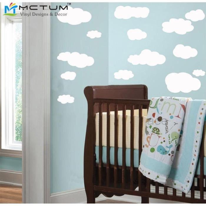 stickers muraux enfant nuage achat vente pas cher. Black Bedroom Furniture Sets. Home Design Ideas