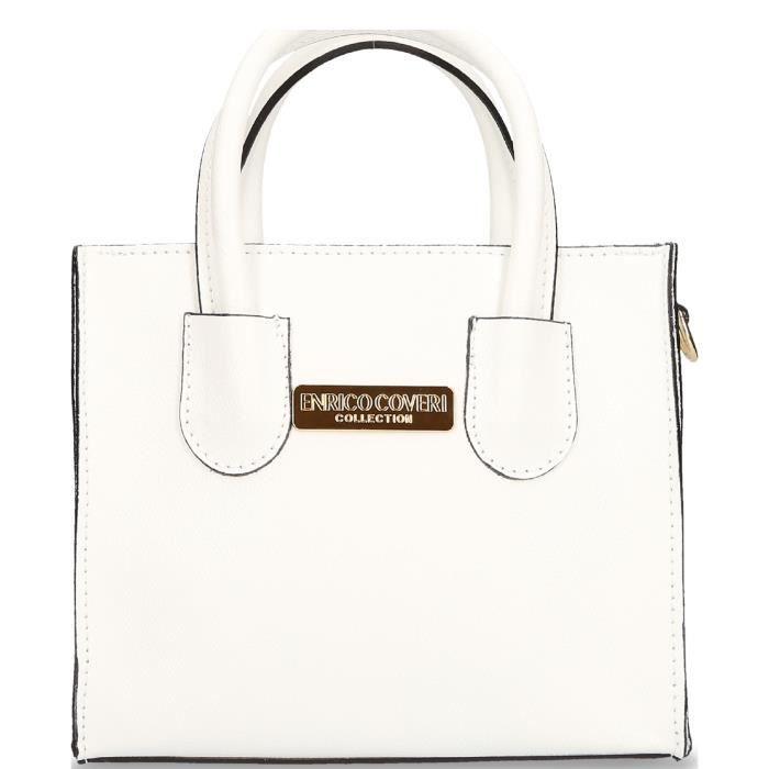 blanc bandoulière en Erico Sac Collection cuir Allegra Coveri wt06T