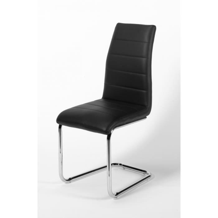 Chaise Design 100 Cm Libera Coloris Noir Pieds Revêtement